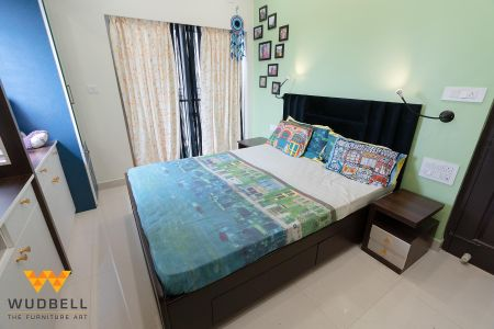 Browney bed with side tables