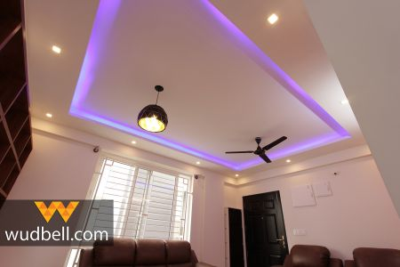 False Ceiling with a gorgeous hanging light