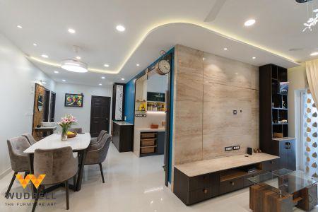 False ceiling with a fancy design
