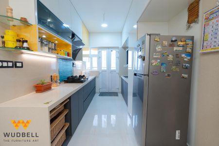 Highly functional modular stotage kitchen