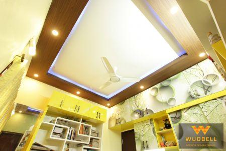 Kids Bedroom veneer false ceiling design.