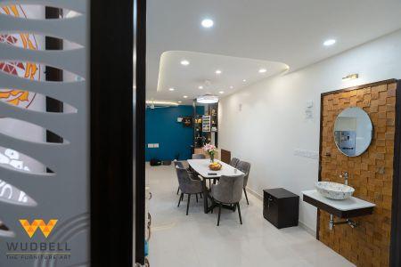 Laser Cut Mandir design amplifying the home interior