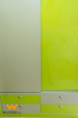 sliding wardrobe, green wardrobe