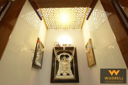 Pooja unit CNC false ceiling grid and design based on Lord Tirupathi.