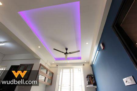 Rectangular-cut well-lit ceiling