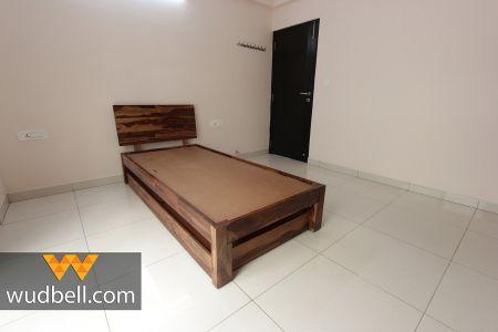 Teak-wood Single Bed