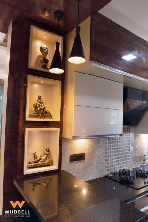 The Kitchen Entrance and breakfast counter