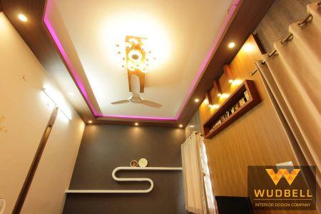 Veneer finish flase ceiling and rgb led cove light